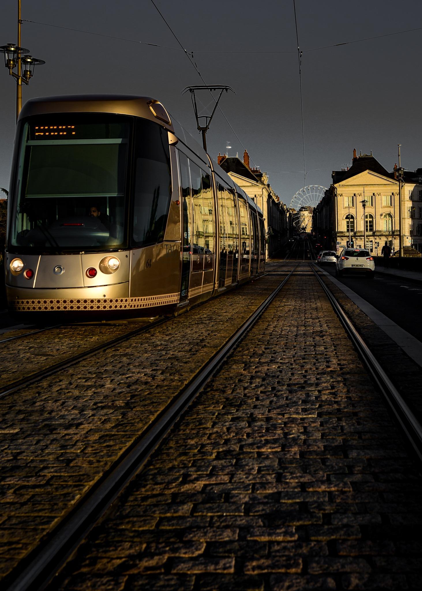 sable de Loire la couleur du tram