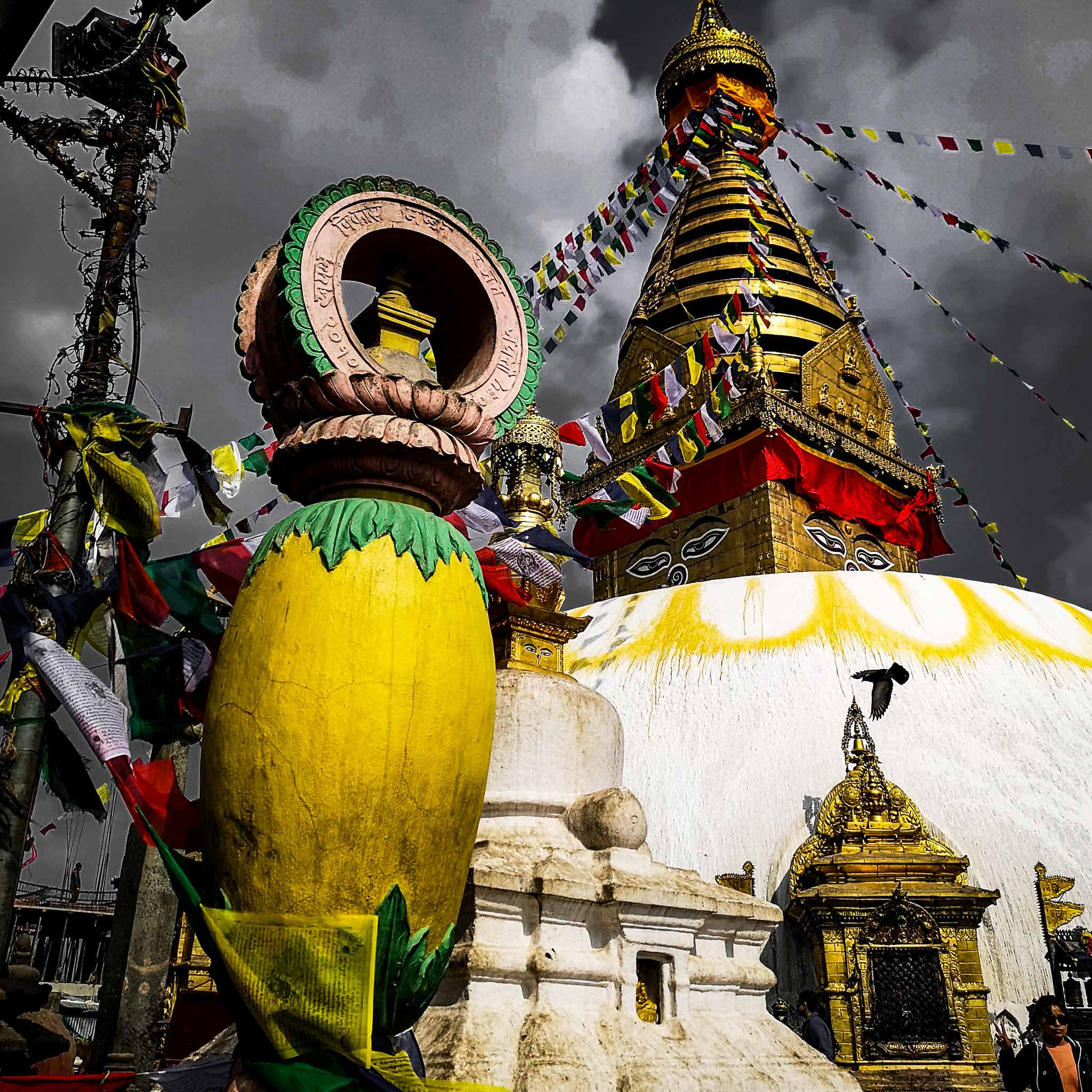 temple de Swayambhunath (Népal)